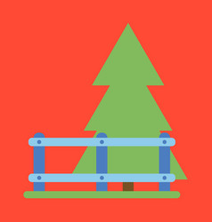 Flat icon fenced spruce vector