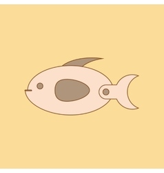 Flat icon on background Kids toy fish vector