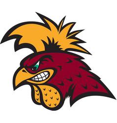 gamecock head sports logo mascot vector image