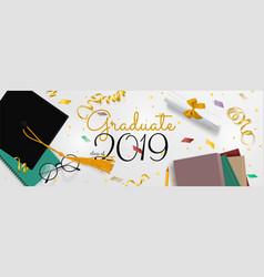 graduation banner background congrats vector image
