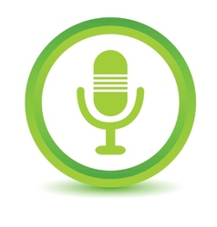 Green microphone icon vector