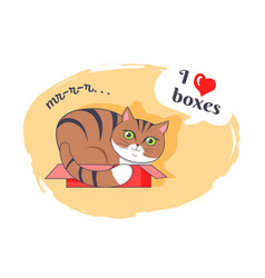 I love boxes beautiful kitty vector