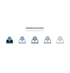 Information point icon in different style two vector