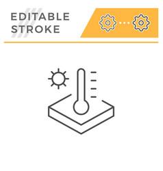 Insulation temperature line icon vector