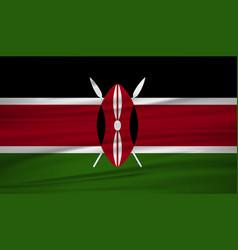 Kenya flag flag of kenya blowig in the wind eps vector