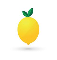 lemon fruit logo design simple icon vector image