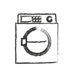 Monochrome blurred silhouette of wash machine vector
