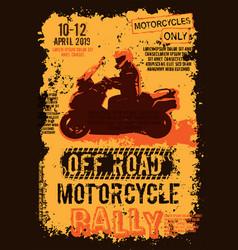 Off road event portrait poster vector