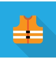 Orange safety vest vector