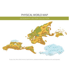 physical world map elements build your own vector image
