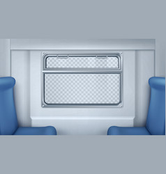 realistic train or metro wagon interior vector image