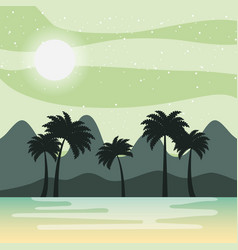 Relaxing cold landscape vector