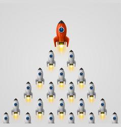 Rocket leader idea cover vector