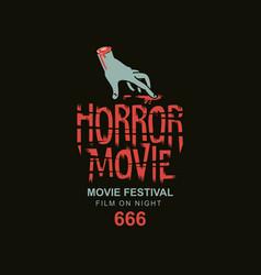 Scary cinema poster horror movie festival vector