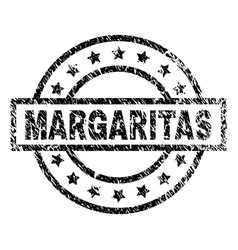 Scratched textured margaritas stamp seal vector