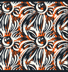 Seamless textile pattern print fashion trendy vector