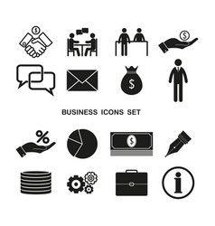 set business icons simple vector image