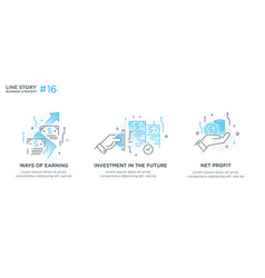 Set of concept with business concept vector