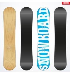 Snowboard sample symbols for design vector
