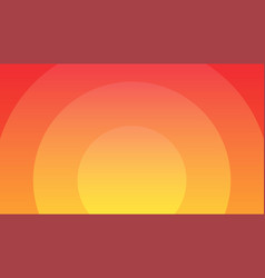 sunset orange background - wonderful wallpaper vector image