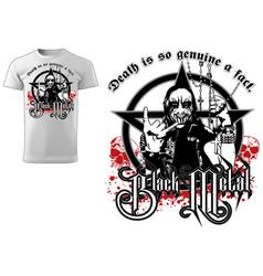 T-shirt gothic black metal design vector
