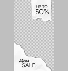torn paper story paper scraps mega sale social vector image