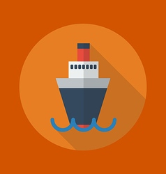 Transportation Flat Icon Ship vector image