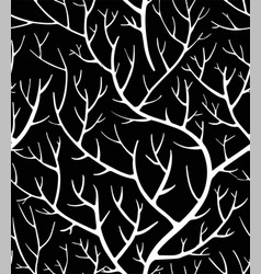 tree branches colorless seamless pattern creepy vector image