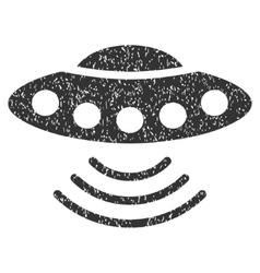 Ufo Grainy Texture Icon vector
