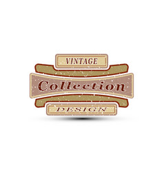 vintage emblem for you design vector image