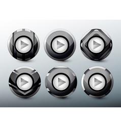 Web grey buttons vector