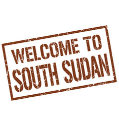 Welcome to south sudan stamp vector