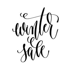 winter sale - hand lettering inscription text vector image