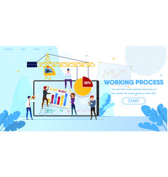 Working process people making web page design vector