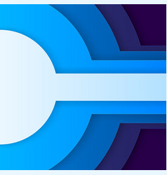 Abstract blue paper circles vector image vector image