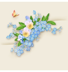 Flowers Forget-me-not Greeting Card vector image vector image