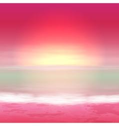Sea perple sunset vector image vector image