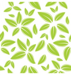 seamless pattern with green leaves vector image vector image