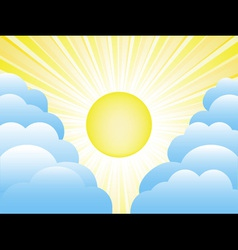 sun and clouds vector image vector image