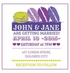 Wedding Invitation Card - Macaroon Theme vector image vector image