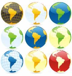 world globes vector image