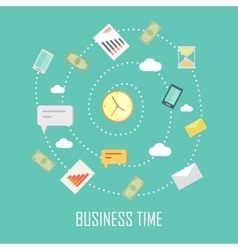 Business Time Concept vector image vector image