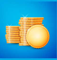 gold coins cash vector image