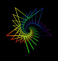 neon star from a spiral vector image