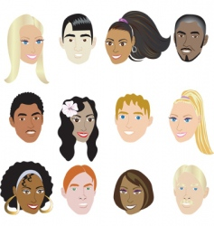 people faces vector image vector image