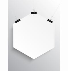 Poster empty hexagon comb mockup vector