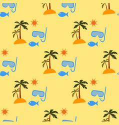 vacation pattern vector image