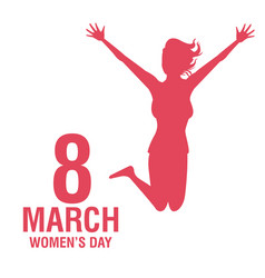 womens day pink card vector image vector image