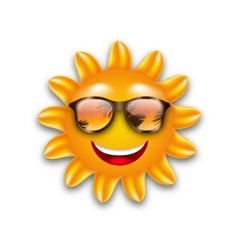 Concept of Funny Sun with Sunglasses Isolated vector image vector image