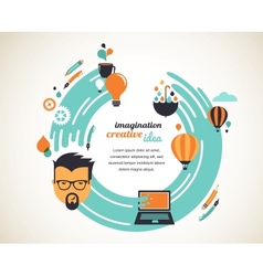 Design creative idea and innovation concept vector image vector image